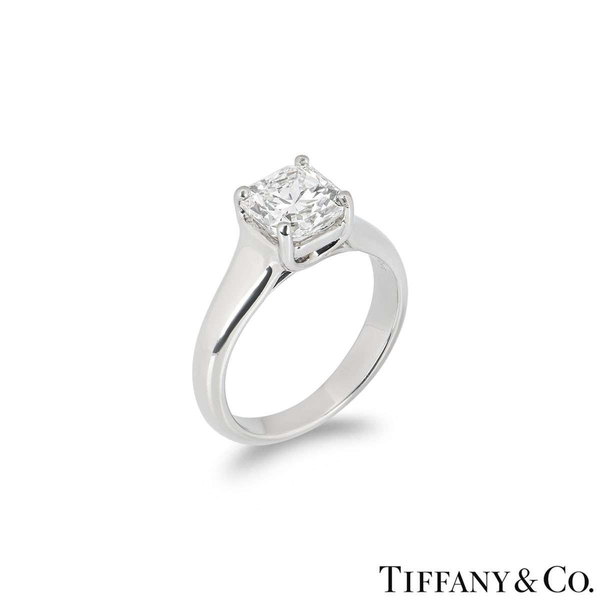 Tiffany & Co. Lucida Cut Diamond Ring 1.61ct H/IF
